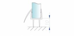 Уплотнитель акриловый двойной для стекла 10 мм, ПВХ длина 2,2м. (096.10)