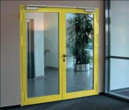 Двухстворчатая стеклянная дверь EIW-60