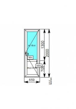 Балконная дверь 650x2000