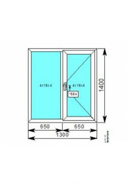 Окно 1300x1400