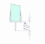 Уплотнитель акриловый для стекла 10 мм, ПВХ, длина 2,2м. (095.10)