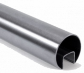 Труба с пазом AISI 304 d48х1,5мм, паз 24х24мм, длина 6000мм (GRIT 600)