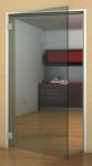 Дверь стеклянная 800*2040 мм. (с уголковой коробкой). Прозрачная