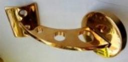 Пристенный кронштейн под поручень ∅50,8 мм (золото)