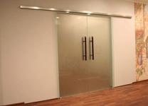 Дверь откатная двухстворчатые матовая 2000*2100 мм.