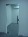 Дверь стеклянная 800*2040 мм. прозрачная
