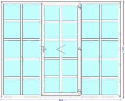 Межкомнатная перегородка в японском стиле для зонирования помещения 3000х2400 мм.