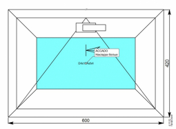 Фрамуга 600*420 мм. с MF 1-кам. стеклопакетом