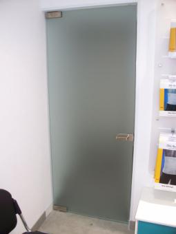 Дверь стеклянная 800*2040 мм. матовая