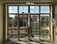 Входная группа в дом. Окна в пол. Панорамные окна. Входная группа ПВХ Тверь. 4000х2700мм.