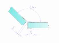 Уплотнитель акриловый 305В для стекла 10 мм, ПВХ, длина 2,2м. (305В.10)