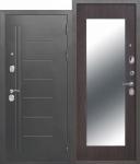 Входная металлическая дверь 10 см Троя Серебро МАКСИ зеркало Венге