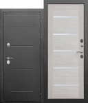 Входная дверь c ТЕРМОРАЗРЫВОМ 11 см Isoterma снаружи - СЕРЕБРО, изнутри Лиственница беж