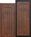 Морозостойкая дверь c ТЕРМОРАЗРЫВОМ 13 см МДФ/МДФ Грецкий орех. Винорит