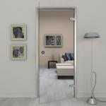 Дверь стеклянная 600*1900 мм. прозрачная
