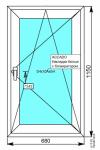 Окно Darrio 680х1150 мм.