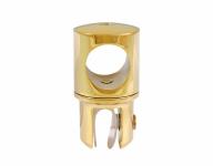 Держатель стекла (914А Gold) торцевой, штанга Ø19 мм, под Золото
