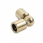 Соединитель штанги (915 Gold) произвольный угол, штанга Ø19 мм, под Золото