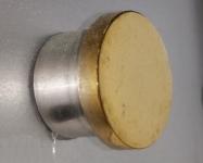 Заглушка плоская полированная (золото)