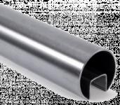 Труба с пазом AISI 304 d48х1,5мм, паз 24х24мм, длина 6000мм (GRIT 600), из нержавеющей стали