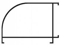 Угол алюминиевый белый 90 градусов 40*60*1000 мм.