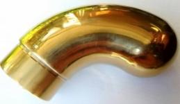Отвод оконечный d-38 мм  (золото)