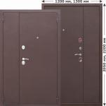 Двустворчатая входная дверь GARDA Металл/Металл 1200мм, 1300мм