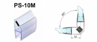 Уплотнитель магнитный для стекла 8 мм, ПВХ, длина 2,2 м. (комплект из 2 штук). (099.8)