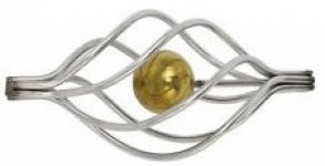 Декоративная корзинка (с золотым шариком)