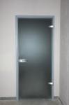 Дверь стеклянная 800*2040 мм. (с уголковой коробкой). Матовая