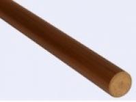 Пластиковый поручень ПВХ коричневый 4м.