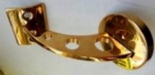Пристенный кронштейн под поручень ?50,8 мм (золото)