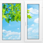 Окно Rehau Blitz 1300x1400 мм.
