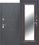 Входная металлическая дверь 7,5 см GARDA Серебро Зеркало Фацет ВЕНГЕ