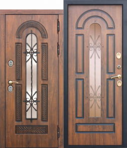 Морозостойкая дверь c ТЕРМОРАЗРЫВОМ 13 см VITRA Винорит