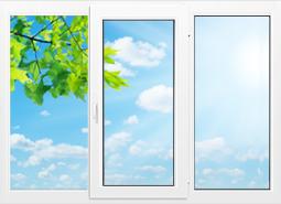Окно KBE 58 - 2100x1400 мм.